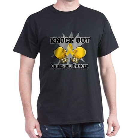 Knock Out Childhood Cancer Dark T-Shirt