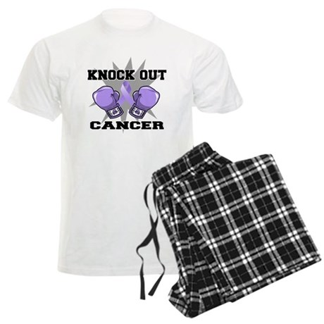 Knock Out Cancer Men's Light Pajamas