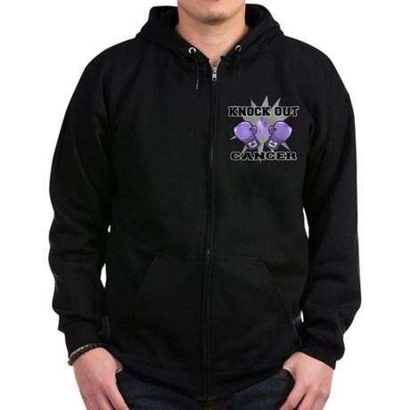 Knock Out Cancer Zip Hoodie (dark)
