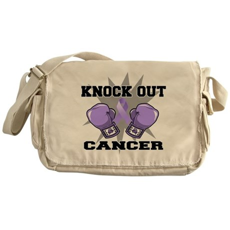 Knock Out Cancer Messenger Bag