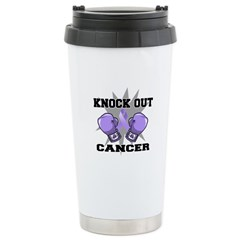 Knock Out Cancer Ceramic Travel Mug