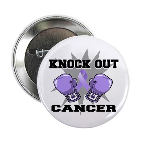 "Knock Out Cancer 2.25"" Button (100 pack)"