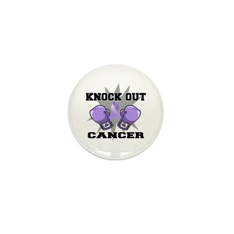 Knock Out Cancer Mini Button