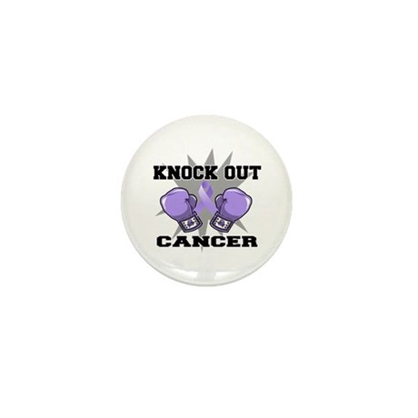 Knock Out Cancer Mini Button (100 pack)