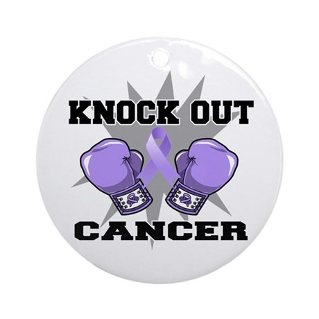Knock Out Cancer Ornament (Round)