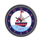 Little Sailboat Wall Clock - Carter
