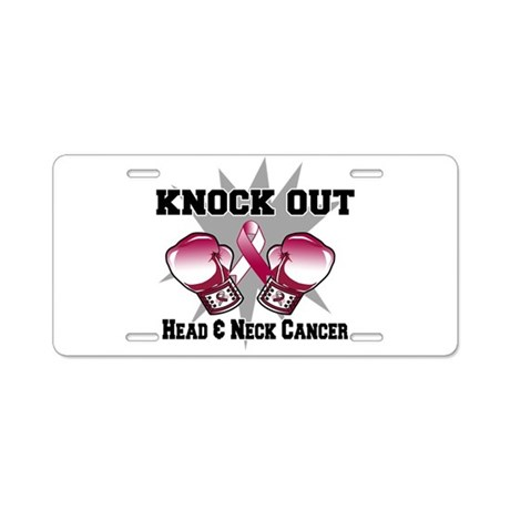 Knock Head Neck Cancer Aluminum License Plate