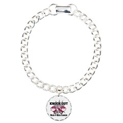 Knock Head Neck Cancer Charm Bracelet, One Charm