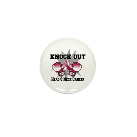 Knock Head Neck Cancer Mini Button