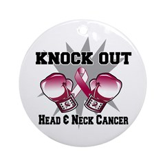 Knock Head Neck Cancer Ornament (Round)
