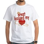Brent Lassoed My Heart White T-Shirt
