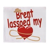 Brent Lassoed My Heart Throw Blanket