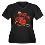 Bruce Lassoed My Heart Women's Plus Size V-Neck Da