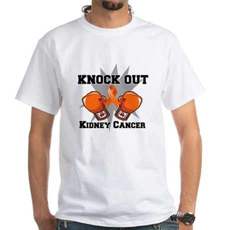Knock Out Kidney Cancer White T-Shirt