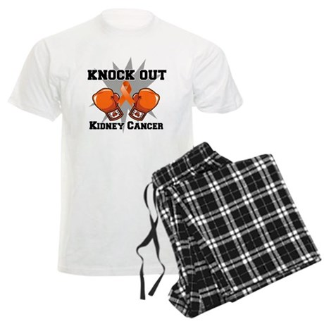 Knock Out Kidney Cancer Men's Light Pajamas