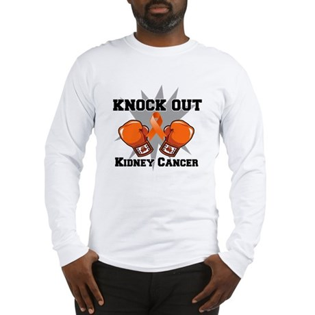 Knock Out Kidney Cancer Long Sleeve T-Shirt