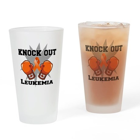Knock Out Leukemia Drinking Glass