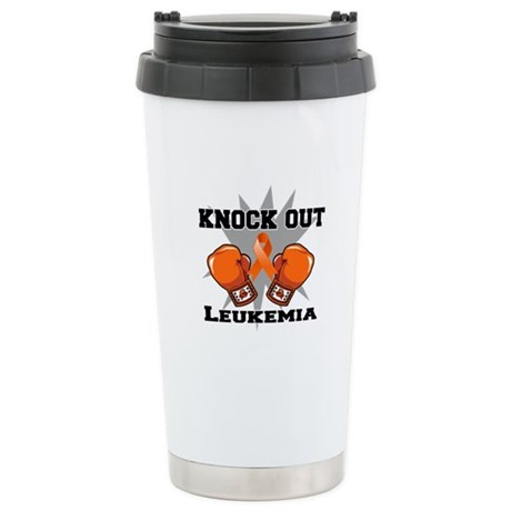 Knock Out Leukemia Ceramic Travel Mug