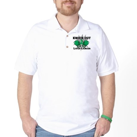 Knock Out Liver Cancer Golf Shirt