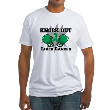 Knock Out Liver Cancer Fitted T-Shirt