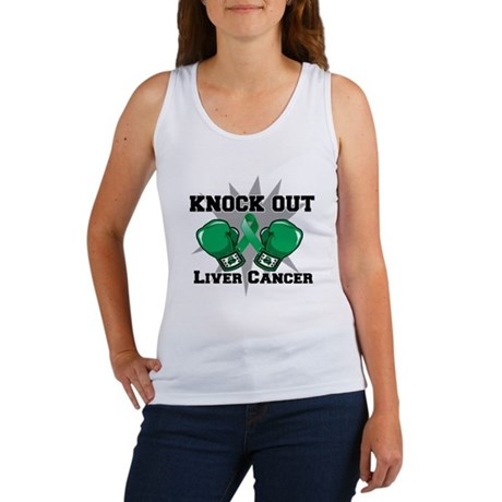 Knock Out Liver Cancer Women's Tank Top