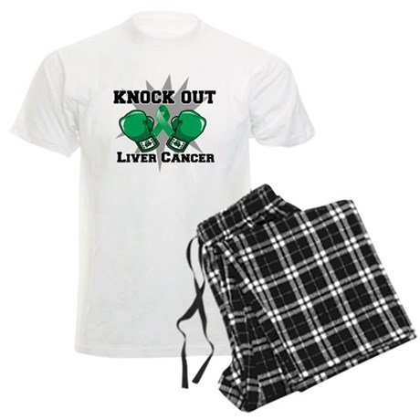 Knock Out Liver Cancer Men's Light Pajamas