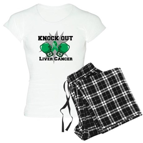 Knock Out Liver Cancer Women's Light Pajamas