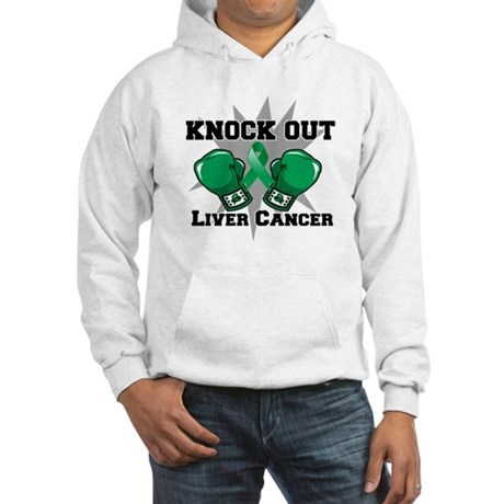Knock Out Liver Cancer Hooded Sweatshirt