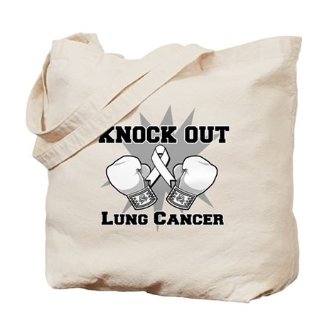 Knock Out Lung Cancer Tote Bag