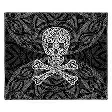 Celtic Skull And Crossbones King Duvet Cover