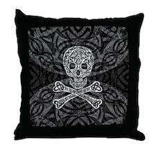 Celtic Skull And Crossbones Throw Pillow