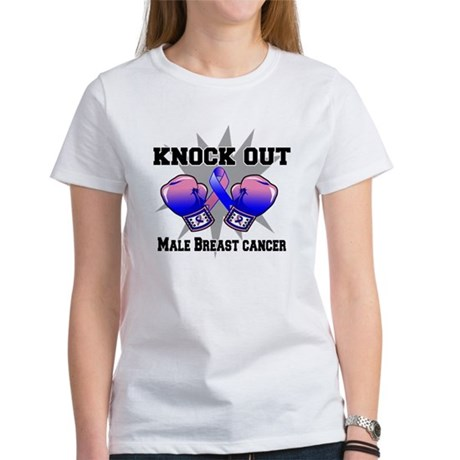 Knock Male Breast Cancer Women's T-Shirt
