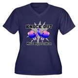 Knock Male Breast Cancer Women's Plus Size V-Neck