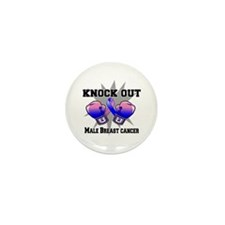 Knock Male Breast Cancer Mini Button (100 pack)