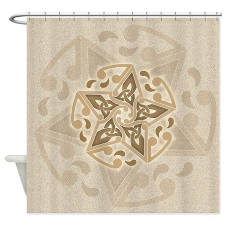 Celtic Star Shower Curtain