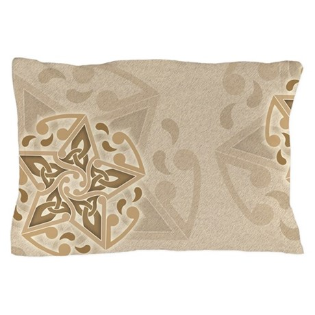 Celtic Star Offset Pillow Case