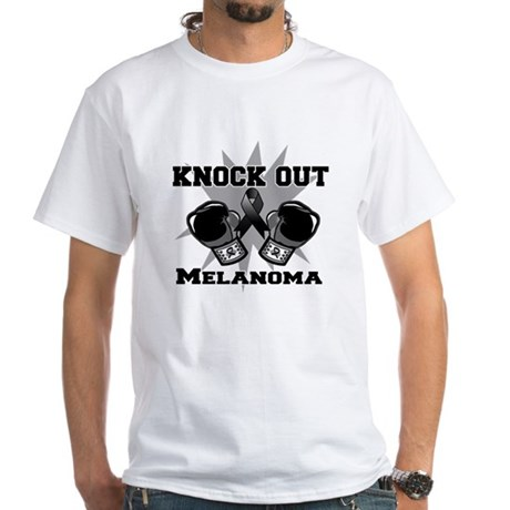 Knock Out Melanoma White T-Shirt