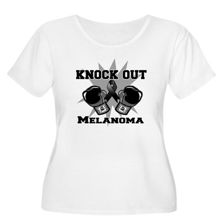 Knock Out Melanoma Women's Plus Size Scoop Neck T-