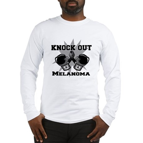Knock Out Melanoma Long Sleeve T-Shirt