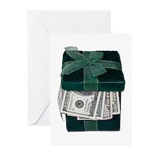Gift Box Full of Money Greeting Cards (Pk of 10)