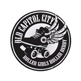 "Old Capitol City Roller Girls 3.5"" Button"