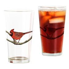 Cute Cardinals Drinking Glass