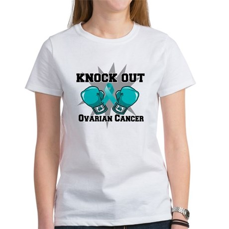 Knock Out Ovarian Cancer Women's T-Shirt