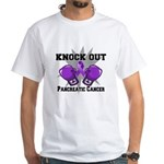 Knock Out Pancreatic Cancer White T-Shirt