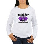 Knock Out Pancreatic Cancer Women's Long Sleeve T-