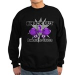 Knock Out Pancreatic Cancer Sweatshirt (dark)