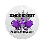 Knock Out Pancreatic Cancer Ornament (Round)