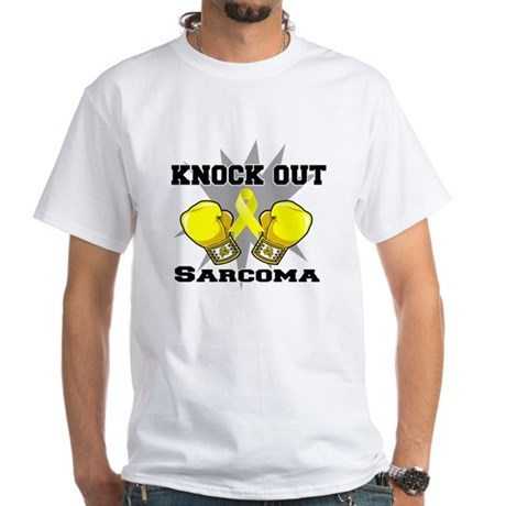 Knock Out Sarcoma White T-Shirt