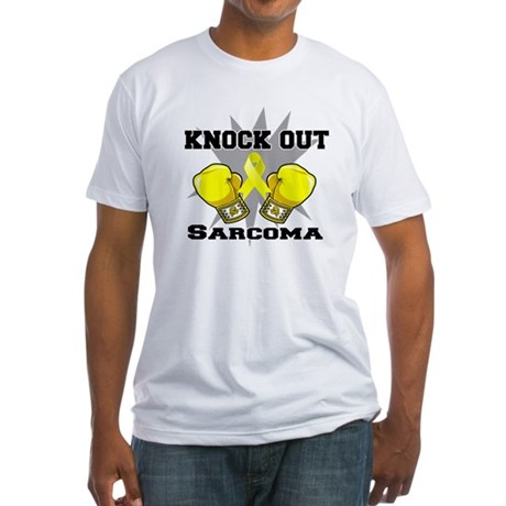 Knock Out Sarcoma Fitted T-Shirt