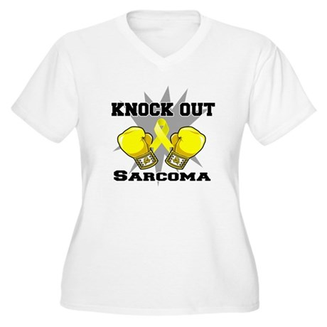 Knock Out Sarcoma Women's Plus Size V-Neck T-Shirt